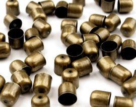Réz színű gyöngykupak 8mm - 2db