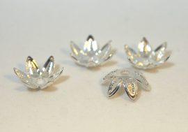 Ezüst színű díszes gyöngykupak 9mm