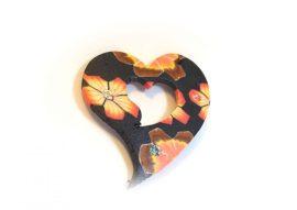 Fimo kaboson és medál - szív