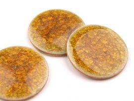 Színes kerámia kaboson - sárga