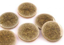 Színes kerámia kaboson - barna, 23mm