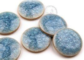 Színes kerámia kaboson - kék,23mm
