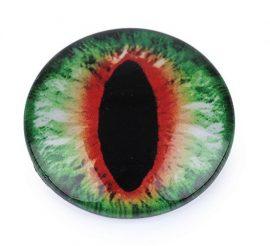 Színes üveg kaboson -  szem, 25mm
