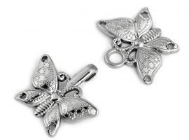 Filigrán díszes kapocs-pillangó