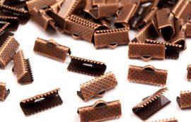 Nagy fogas szalagvég - bronz szín