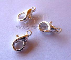 Ezüst színű prémium delfin kapocs-10db, 9mm