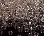 Kristály ezüst közepű cseh üveg kásagyöngy 11/0 - Preciosa - 50g