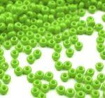 Világos zöld cseh üveg kásagyöngy 11/0 - Preciosa - 10g