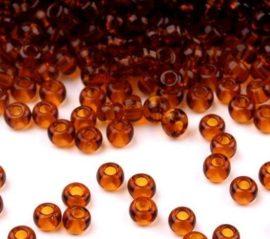 Barna cseh üveg kásagyöngy 11/0 - Preciosa - 10g