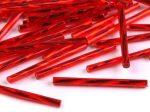 Vörös ezüstközepű Preciosa csavart szalma 20mm - 5g