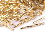 Arany ezüstközepű Preciosa csavart szalma 20mm - 5g