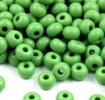 Zöld Preciosa kásagyöngy 6/0 - 4 mm