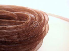 Lószőr üreges szalag 1m - barna