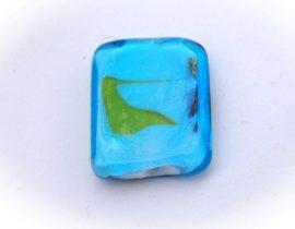Kék cukorka téglalap - lámpagyöngy
