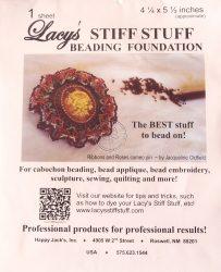 Lacy gyöngyhímző kézimunka alap 11x14cm - 1db fehér/csomag