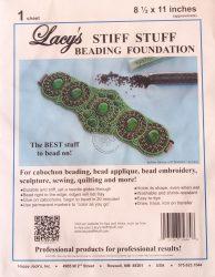 Lacy gyöngyhímző kézimunka alap 21,5x28cm - 1db fehér/csomag