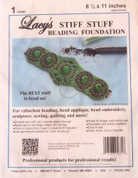 Lacy gyöngyhímző kézimunka alap 21,5x28cm - 1db fehér