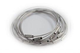 Ezüst színű merev sodrony karkötő alap