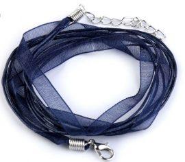 Kék organza szalag