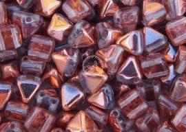 Pyramid - 6mm kétlyukú piramis gyöngy - capry gold