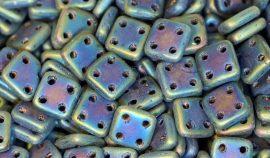 Matt  Írisz  kék - négylyukú négyzet