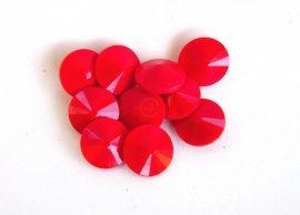 12mm cseh rivoli - Korall piros