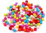 5x5 kocka plastic gyöngy vegyes szín - 10g