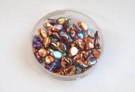 Preciosa PIP gyöngy 7x5mm - szivárványos cooper kristály