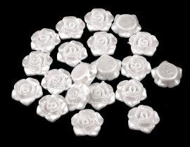 Rózsa gyöngy - gyöngyház fehér