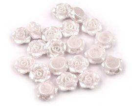 Rózsa gyöngy - füstös fehér
