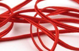Piros  - Sújtás zsinór 3mm, 1m