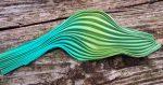 Shibori selyem szalag - zöld - 20cm