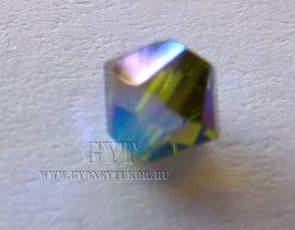 Olivine AB 2x- Swarovski Elements Bicone 25db 4mm