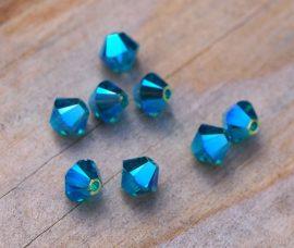 Blue zircon AB2x - Swarovski Elements Bicone 4mm