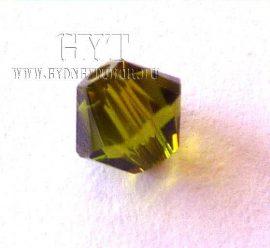 Oliva zöld - Swarovski Elements Bicone 4mm - 6103