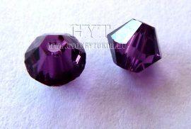 Ametiszt lila- Swarovski Elements Bicone 4mm - 6108