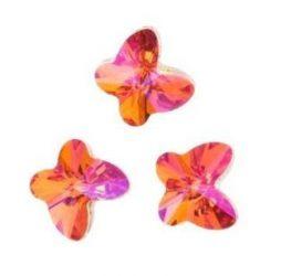 Astral pink pillangó- Swarovski Elements, 8mm