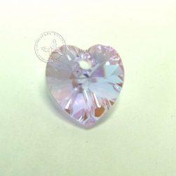 Lila bevonatos - szív - Swarovski Elements Heart