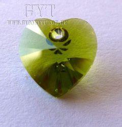Oliva - szív - Swarovski Elements Heart - 6199