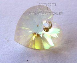 Csillogó sárgászöld - szív - Swarovski Elements Heart - 9863