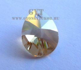 Arany  - strassz gyöngy - Swarovski Elements Xilion pearl 8mm