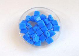 Silky diamonds kétlyukú gyöngy - 6x6mm - cukorka kék