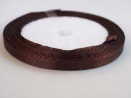 Szatén szalag, 1m - barna 12,5mm széles