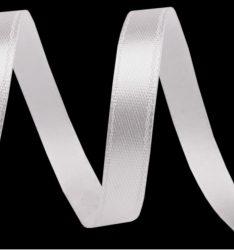 Szatén szalag, 1m - fehér 12,5mm-es