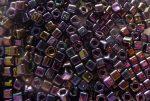 Metál írisz lila - TOHO cube kockagyöngy 3mm