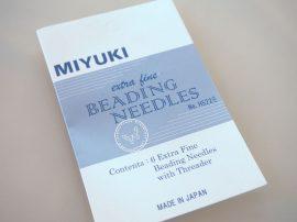 Miyuki gyöngyfűző tű csomag , 6 tű