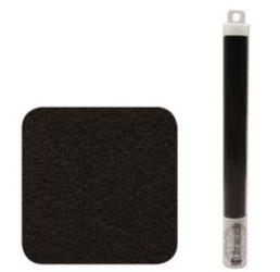Ultra Suede 21,5x21,5cm - Fekete, tubusban