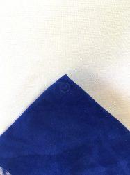 Bőr utánzat gyöngyhímzéshez 20x30cm - Kék