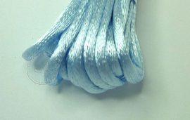 Halványkék - szatén zsinór 2mm vastag, 1m darab