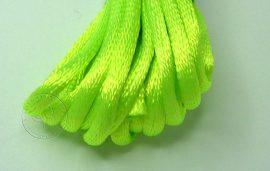 Neonzöld - szatén zsinór 2mm vastag, 1m darab